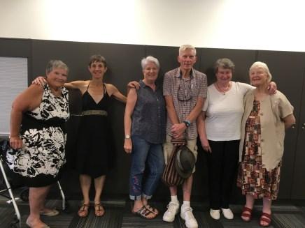 L to R: Jan Craig, Kathleen Bleakley, Nancie Clisby, Ross Taylor, Jenny Davey, Judy McLeod