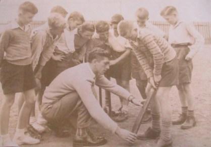 Cricket at Coledale Public School - 1954