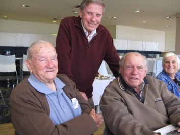 Fred (left) with brothers Geoff & Tom