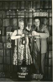 John having fun at Luna Park with future wife Barbara Thomson - 1958/1959
