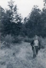 John Street looking for rabbits at Yalwal, south-west of Nowra - circa. 1961