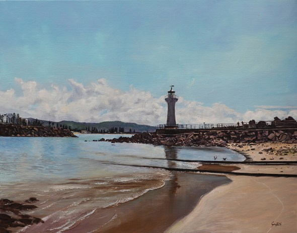 """Cast Iron Lighthouse, Belmore Basin"" - by Pamela Griffith"