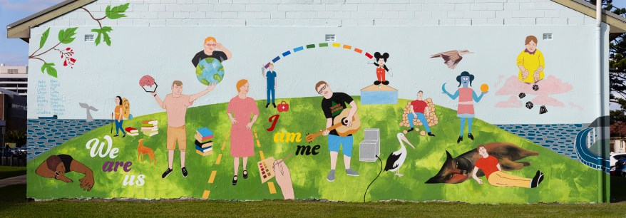 We are Us Disability Trust Mural - MacCabe Park, Wollongong