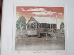 """Vic's etching - """"Hebel State School"""""""