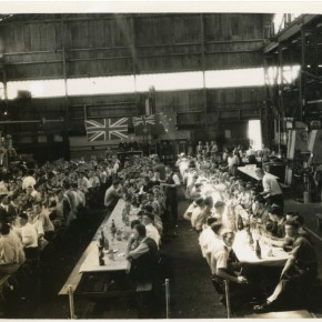 1945 - First Christmas party given to Australian Iron & Steel employees held in the machine shop - P13198