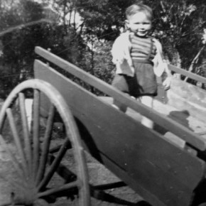 1947 - Jim Powell playing in Pops cart