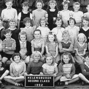 1952 - Jim Powell in second class with mum (Rona) as teacher
