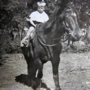 1954 - Jim Powell on Mum's horse Prince at Blue Gum 1954
