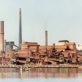 28 July 1993 - Steelworks viewed from north side of Port Kembla Inner Harbour - P27329