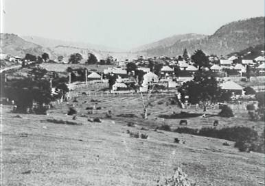 P03724 - Dobbings Bush, also known as Dobbins Bush, Keiraville looking to Mount Keira in the 1920s