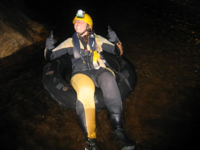 Black water rafting in Nuova Zelanda