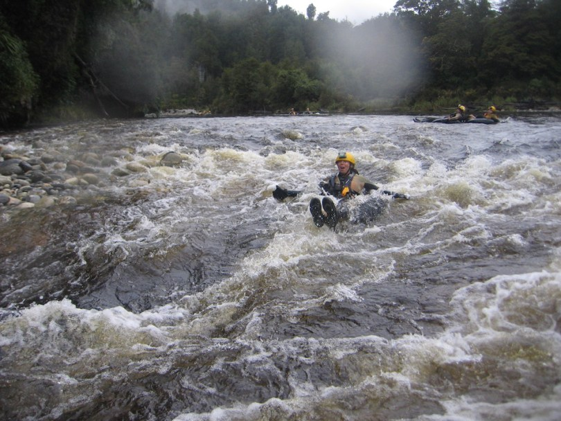 Black water rafting in Nuova Zelanda