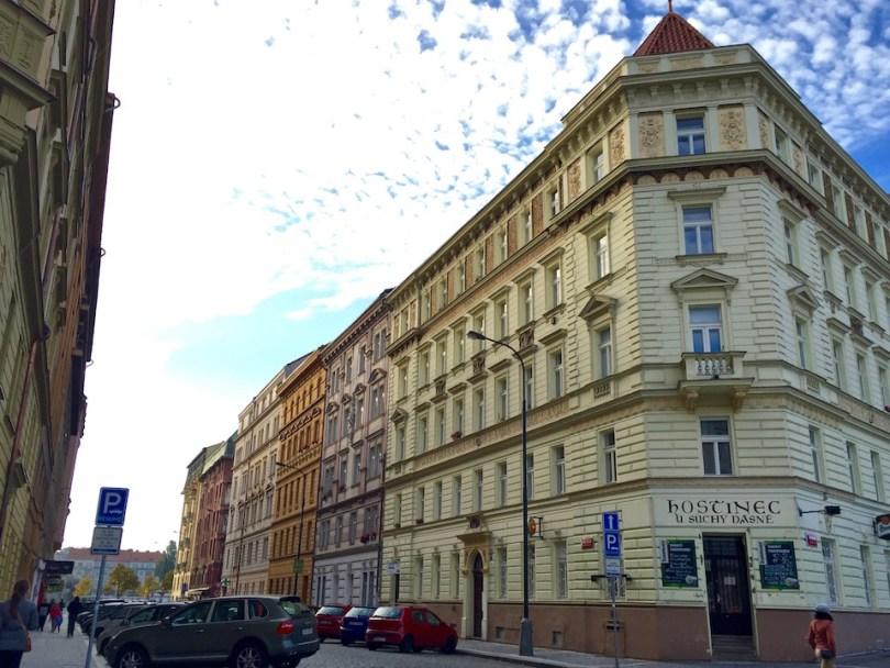 fuori dal centro di Praga