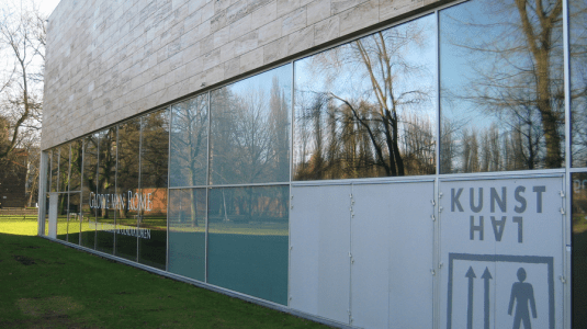 The rear of the Kunsthal museum, where the thieves entered in 2012