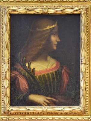 A portrait of Isabella d'Este, seized from a bank vault in Lugano