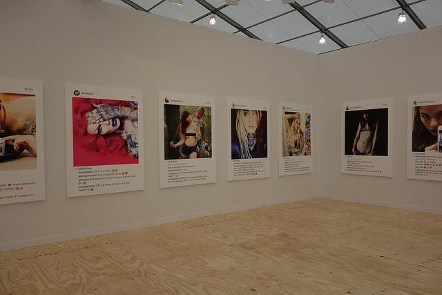 Richard Prince's Instagram Prints at the GAgosian gallery, via
