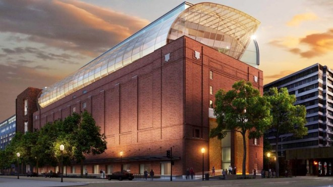 Artist rendering of the museum of the Bible