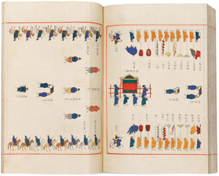 Uigwe for Crown Prince Hyojang's Investiture Ceremony Version for Kings, 1725  The Collection of the Bibliotheque nationale de France returned 297 volumes to Korea in 2011