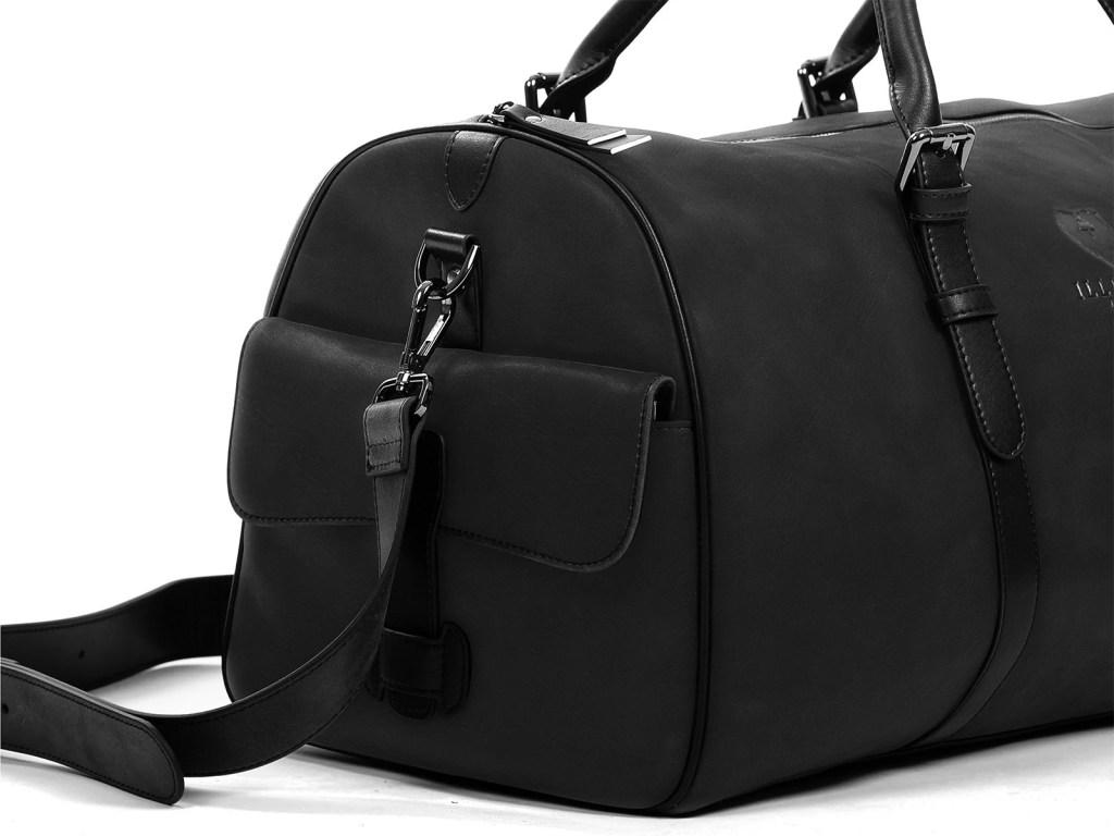 kingsman leather duffle bag detail