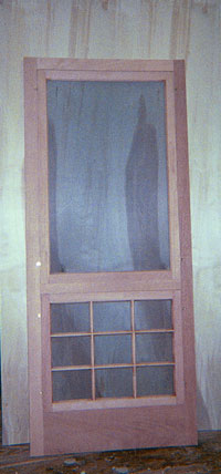 Custom Madebuilt Wood Storm And Screen Doors Traditional