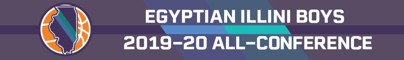 2019-20 Egyptian Illini boys basketball all-conference team