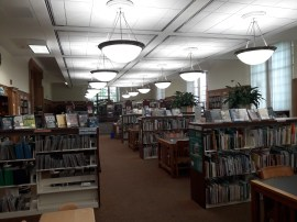 Appealing to all ages, the library has a children's section. The area, located near the entrance, consist of children's literature and small area for reading.