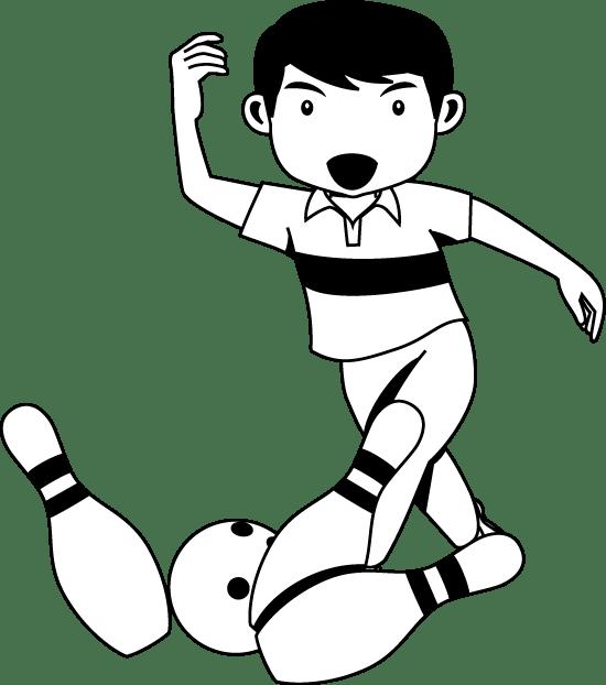 ボーリング04-ボウリングの無料イラスト-イラストポップのスポーツクリップアートカット集