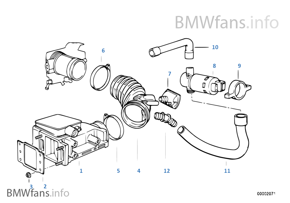 toyota engine parts diagram of a plant worksheet luftmengenmesser | bmw 3' e36 316i 1.6 m43 europa