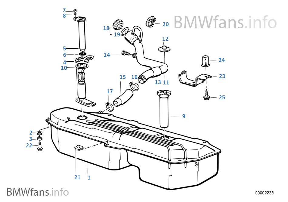 BMW e30 M3 m40 m20 m42 325i cabrio Tank Kraftstofftank