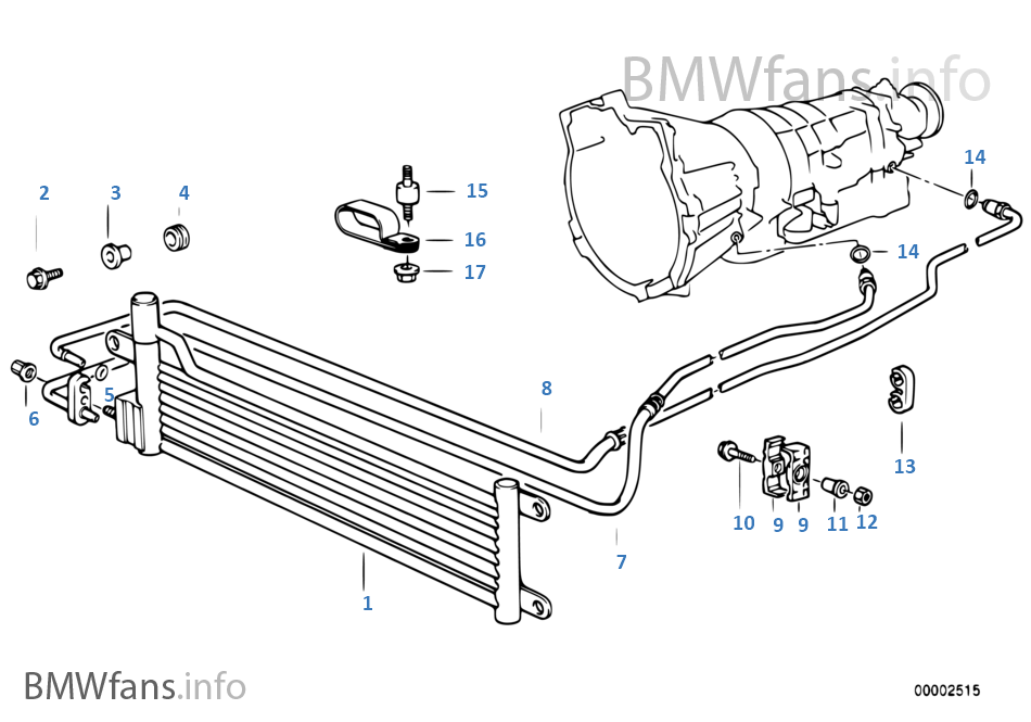Bmw e36 transmission oil cooler