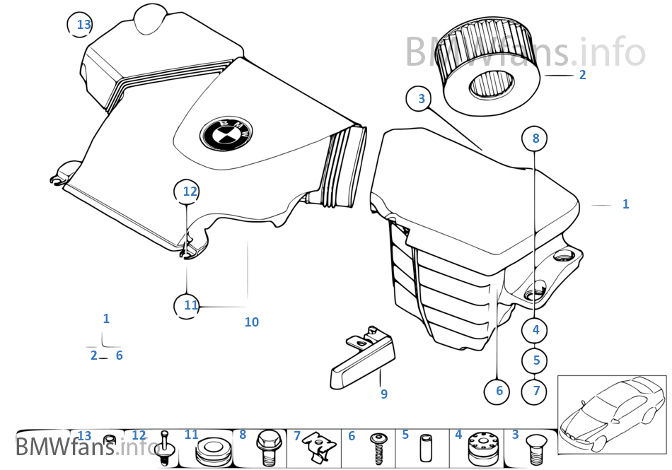 Fuel Filter Suppressor Parts