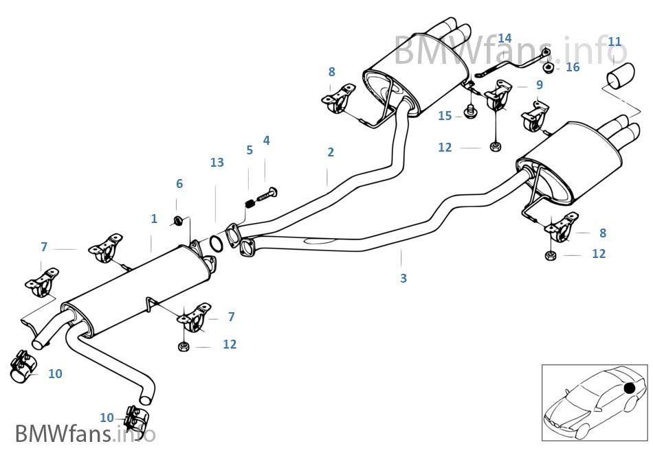 Diagram 2002 Bmw X5 Exhasut. Bmw. Auto Parts Catalog And
