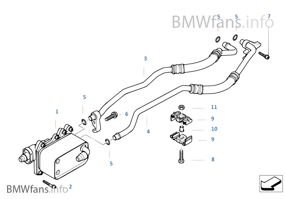 Bmw transmission cooler lines