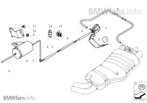 Vacuum control, exhaust flap | BMW X3 E83 X3 30i M54 Egypt
