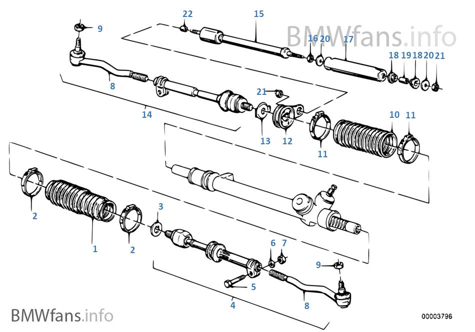 BMw e30 cabrio Lenkgetriebe lenkung steering gear box ZF