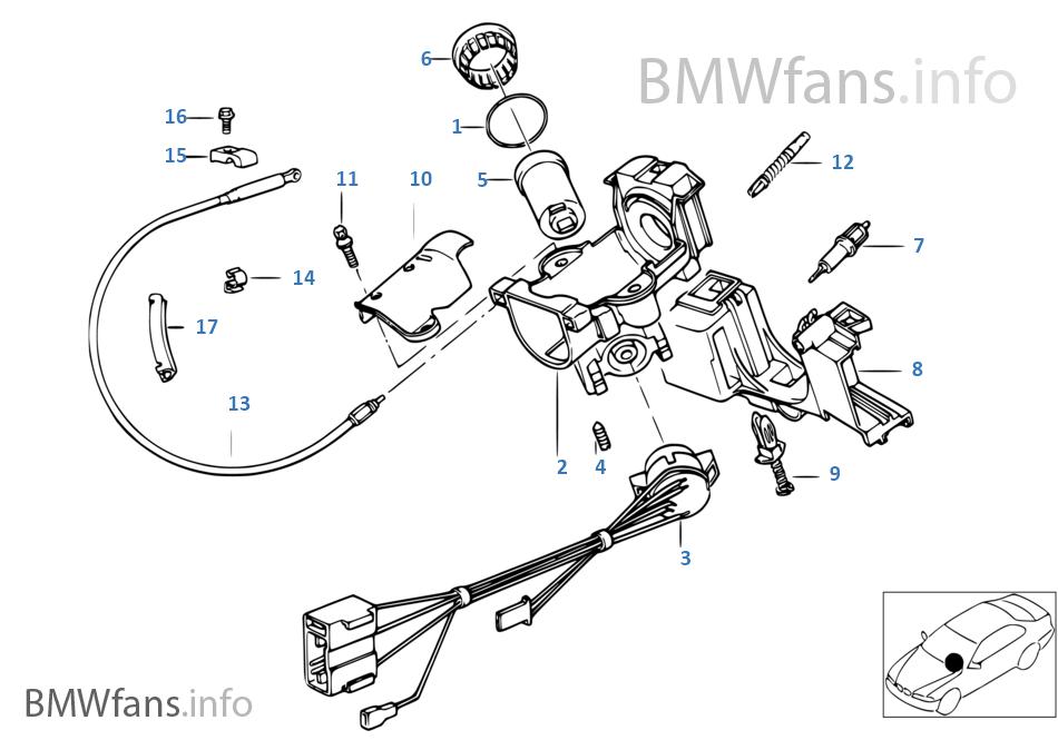 ignition switch deutsch wiring an alternator diagram steering lock bmw 3 e36 316i m40 europe