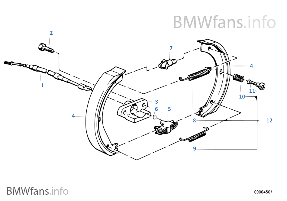 Bmw e36 brake shoe replacement