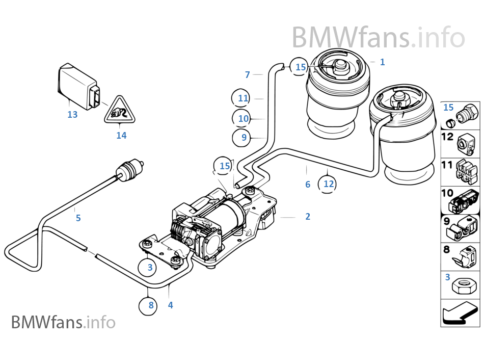 2008 Bmw X5 Air Suspension Fuse Air suspension andor Fuses