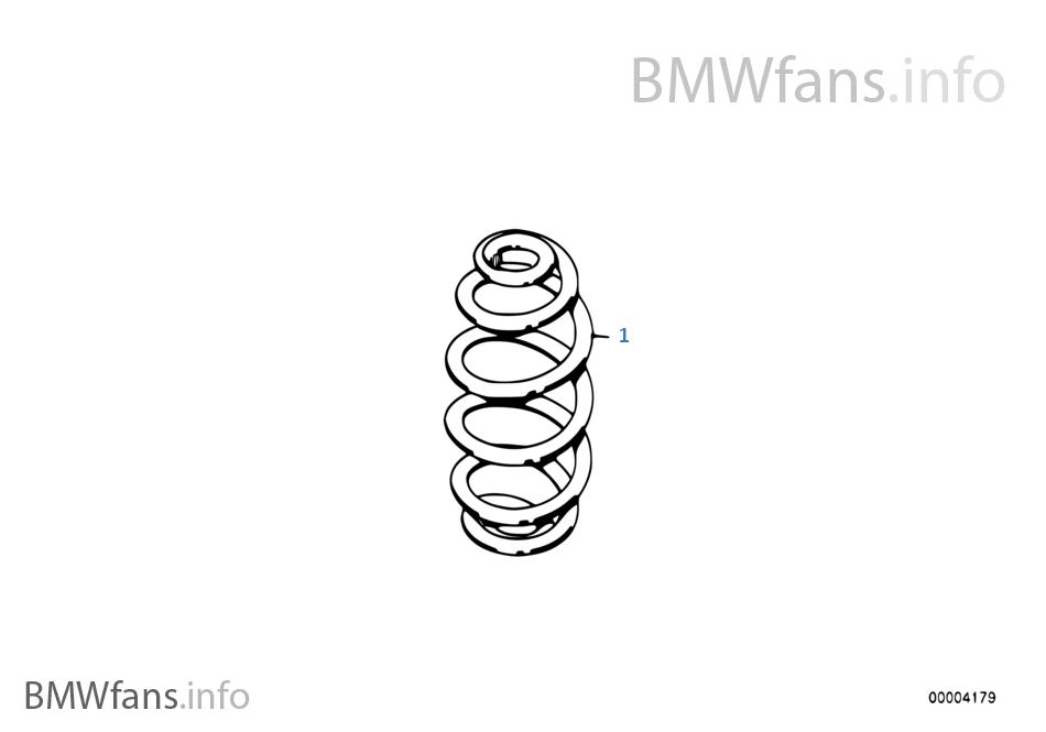 BMW e30 Touring Kombi Feder Federn spring springs hinten