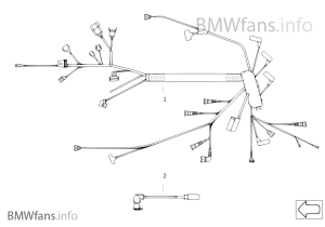 Engine wiring harness | BMW 3' E46 320d M47N Europe