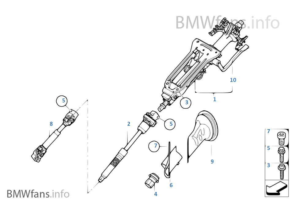 Service manual [Remove 2003 Bmw 7 Series Steering Column
