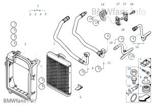 Engine oil cooleroil cooler line | BMW X5 E70 X5 48i N62N USA