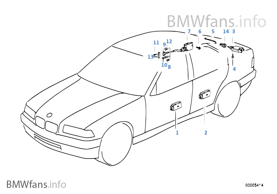 Bmw e34 central locking system