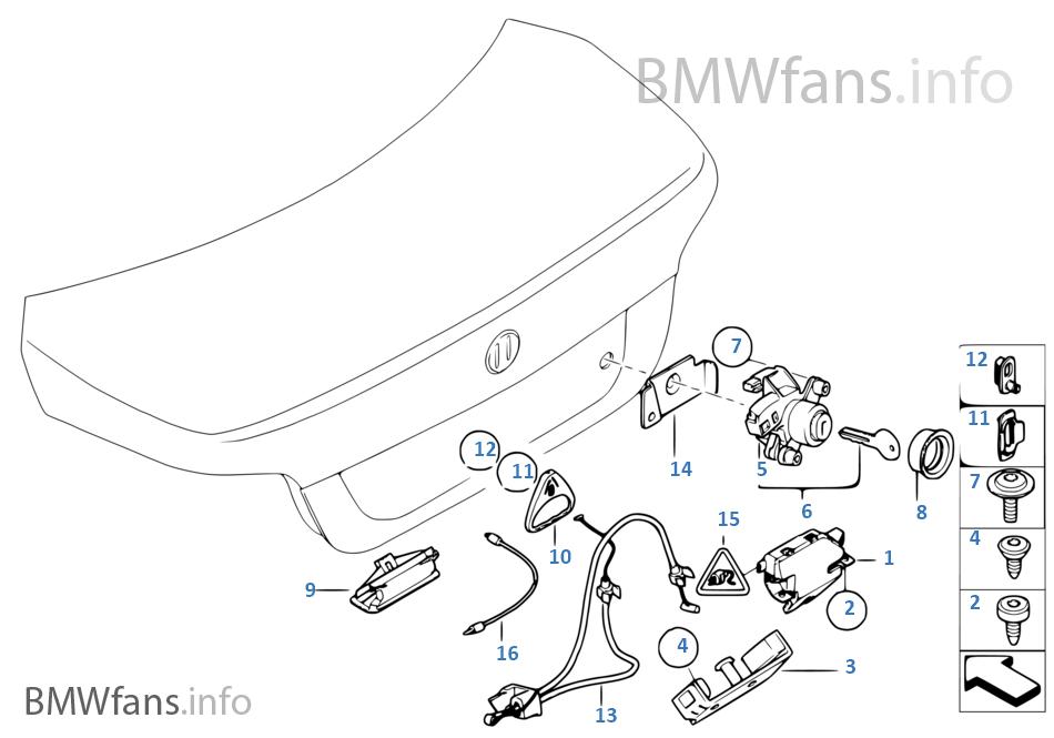 Trunk lid/closing system | BMW 5' E60 LCI 535i N54 USA