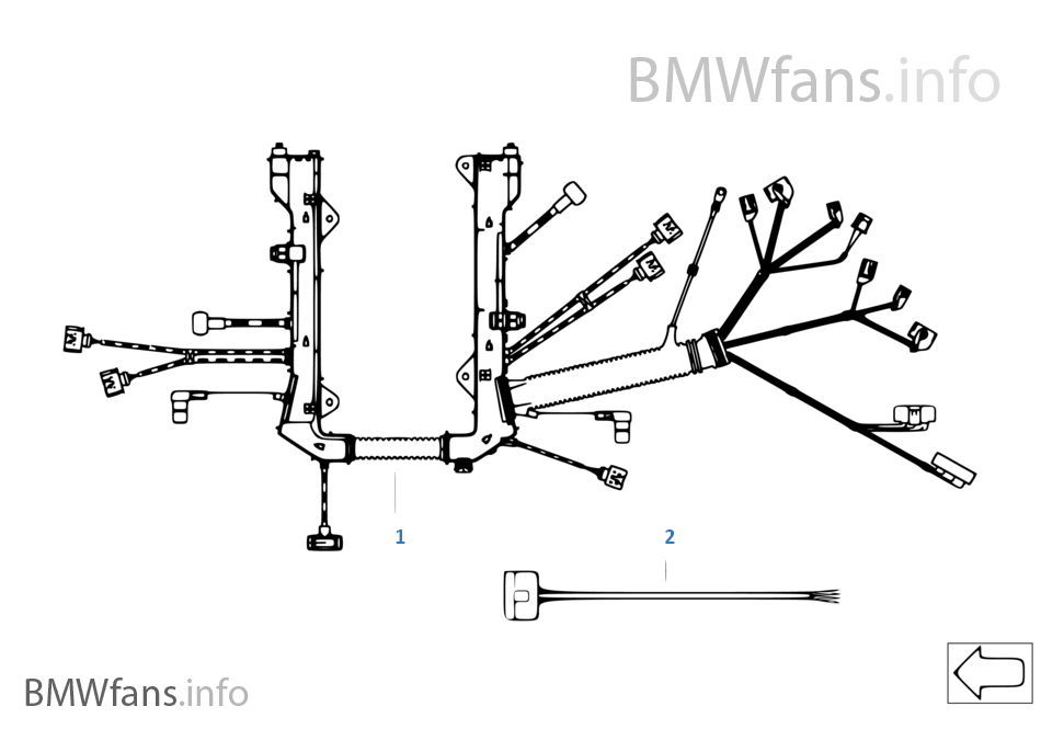 bmw e70 wire charging harness