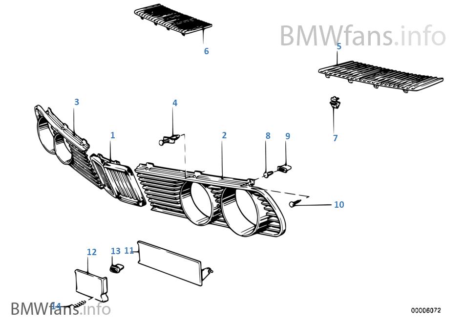 BMW e28 M5 528i Niere Ziergitter Kidney mitte grill grille