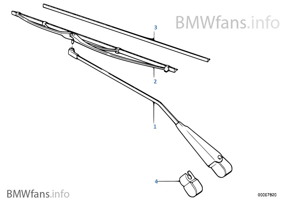 BMW e12 M5 Wischerarme schwarz wiper arms black