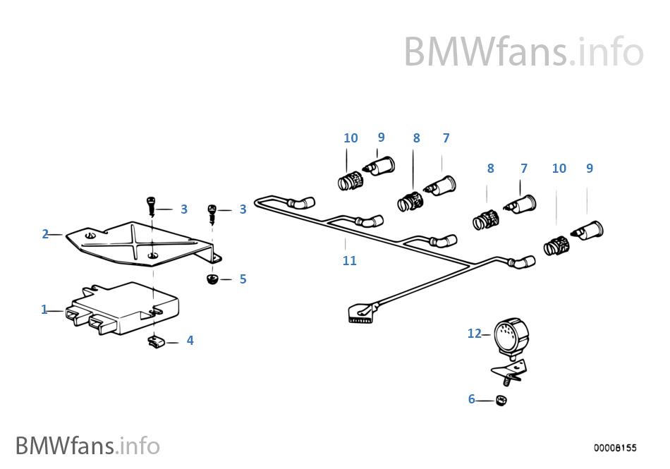 BMW e34 M5 540i Kabelsatz Kabelbaum hinten rear harness