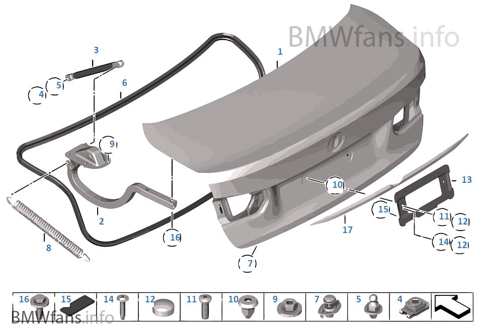 Trunk lid | BMW 3' F30 320d N47N India