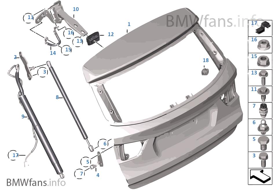 Trunk lid | BMW X3 F25 X3 20iX N20 Europe